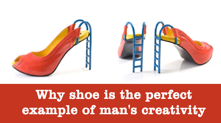 Creativity of man example of shoe