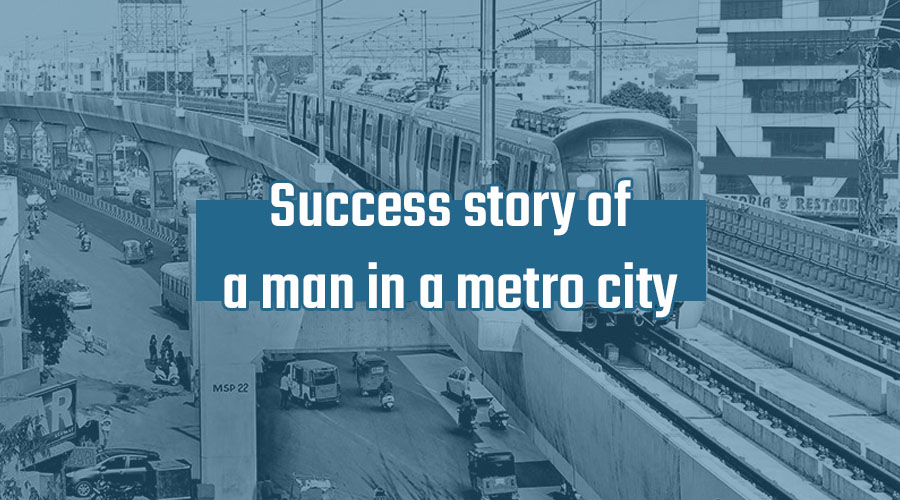 a man in a metro success story