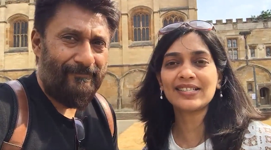 Vivek Agnihotri meets Indian Student leaders at Oxford