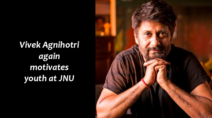 Vivek Agnihotri again motivates youth at JNU