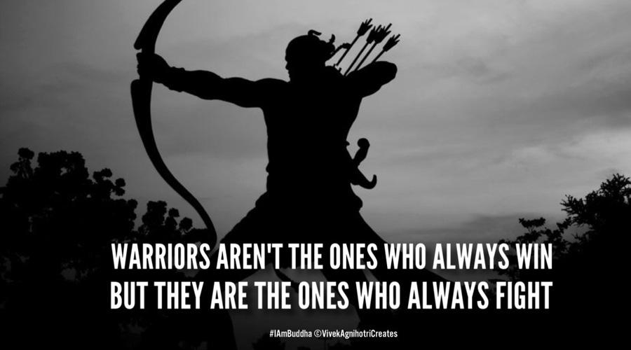 If you want Ram Mandir, follow Rama the warrior?