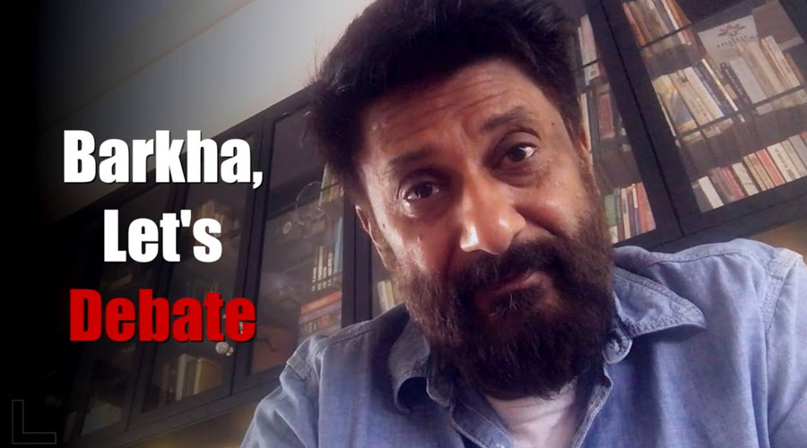 Vivek Agnihotri rebuts Barkha Dutt & exposes her fake narrative