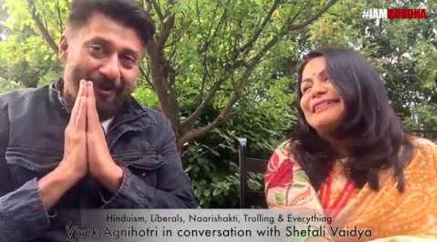 """Hinduism, Trolling & Everything"" - Vivek Agnihotri in conversation with Shefali Vaidya."