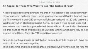 "Want to watch ""The Tashkent Files"""