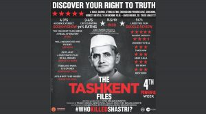 "Commencing 4th successful week; ""The Tashkent Files"" becomes ""The People's Film""!"