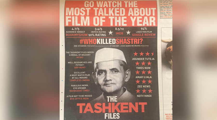 "6th Sensational Week of ""The Tashkent Files""! The 'Most Talked about film' roars #TheRightToTruth"