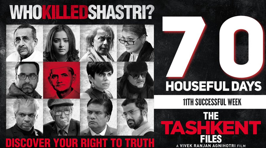 "2.5 Months, 11 weeks, 70 days and still running! ""The Tashkent Files"" emerges as ""The People's Film""!"