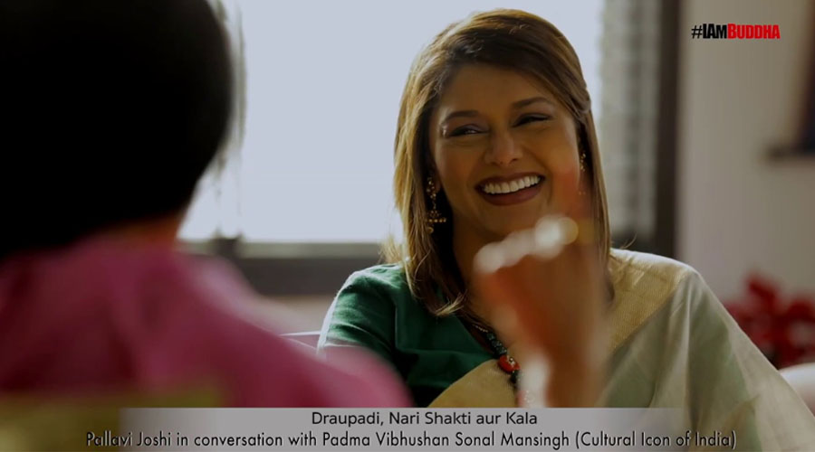 """The Draupadi Saga and India's Cultural Heritage"" Pallavi Joshi in conversation with Sonal Mansingh"