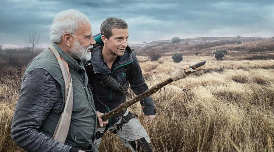 NaMo v/s Wild. Venture into the wilderness of Indian Jungles with the PM on Man v/s Wild.