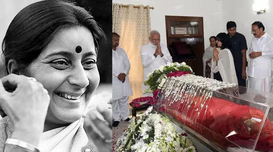"Smt. Sushma Swaraj succumbs to cardiac arrest. India mourns in grief of losing the ""Best Loved Politician"""
