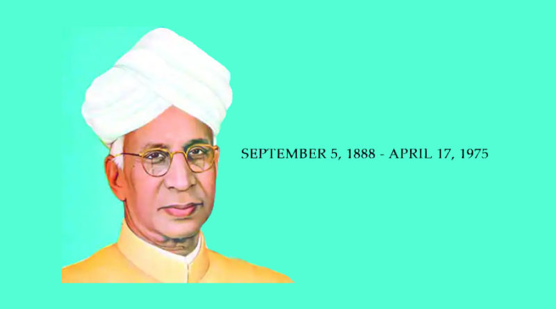 Teacher's Day - A tribute to Sarvepalli Radhakrishnan